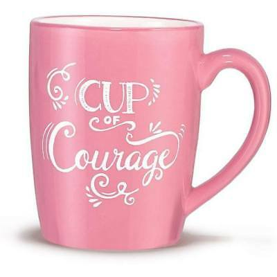"""Avon Breast Cancer Awareness Coffee Mug """"Cup of Courage"""""""