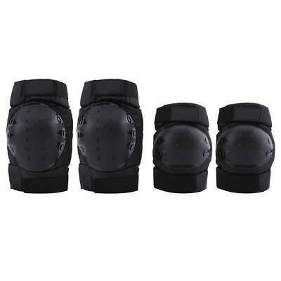 4Pcs Motorcycle Riding Bike Knee Pads Protective Gear Guard Elbow Protector Kit