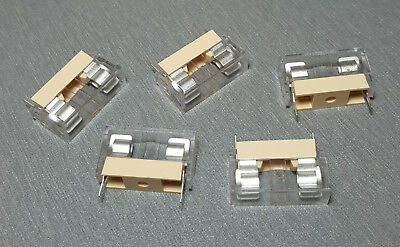 M205 6.3A PCB Mount Covered Fuse Holder Pack of 5