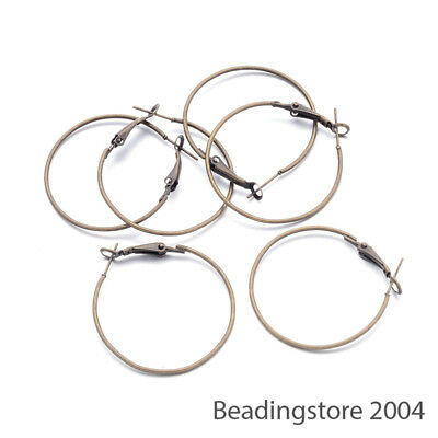 20 Pcs 316L Stainless Steel Wine Glass Charms Hoop Earring Findings 30x25x0.8mm