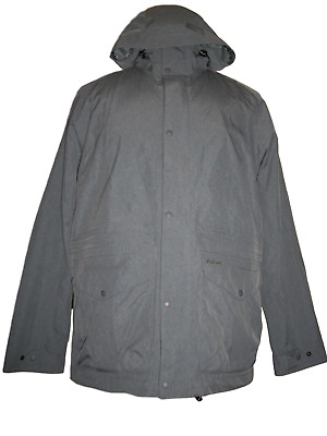 NEW NWT Men's BARBOUR Mull Hooded Waterproof Jacket Coat Gray MEDIUM $399