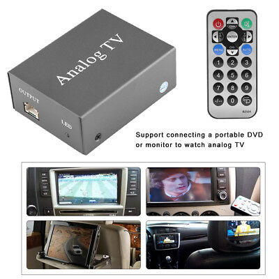Vehicle Mobile DVD TV Receiver Analog Box Tuner Strong Signal Remote Control HOT