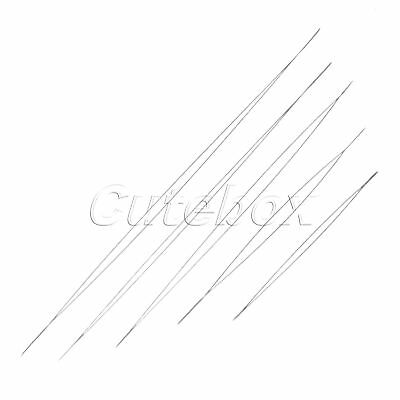 5Pcs Metal Beading Needles Needlework Sewing Embroidery Jewelry Tool 5.8-12.8cm