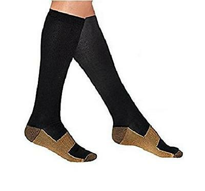 Copper Compression Socks Anti-Fatigue Varicose Veins Graduated Infused Stocking