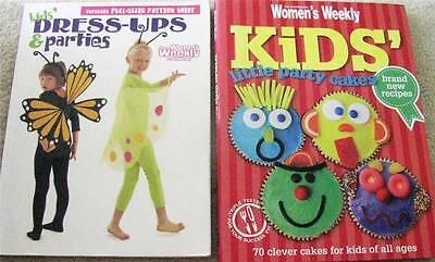 WOMENS WEEKLY KIDS LITTLE PARTY CAKES & BIRTHDAY BOOK + DRESS-UPS & PARTIES  x 2