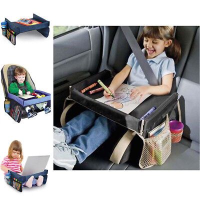 Waterproof Safe Kids Car Seat Table Play Travel Tray Activity Drawing Board Fun
