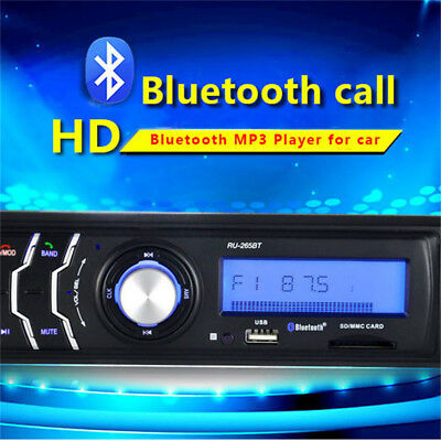 265BT Car Stereo Radio Player MP3 USB SD FM Bluetooth DVD CD Support Remote Hot
