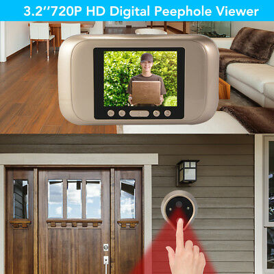 "Digitale Türspion 3.2"" Visible Türkamera LED Peephole Door Video Kamera HS1019"