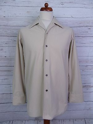 Vintage 1970s Sports Collar Carnaby St Style Shirt Rockabilly -S- DT20