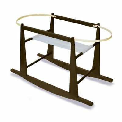 Jolly Jumper Rocking Moses Basket Stand, Expresso NEW