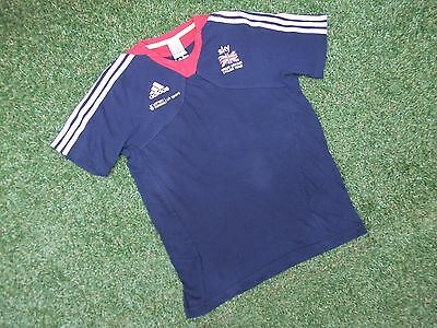 "Team Great Britain Gb Adidas Sky Cycling Team Blue Cotton T Shirt Size 34""~36"""