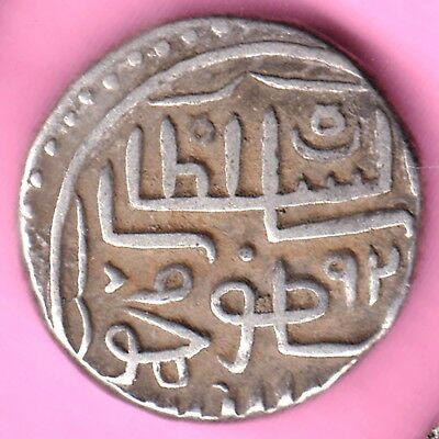 Gujarat Sultanate-Muzaffer Shah-One Tankah-Rarest Beautiful Silver Coin-21