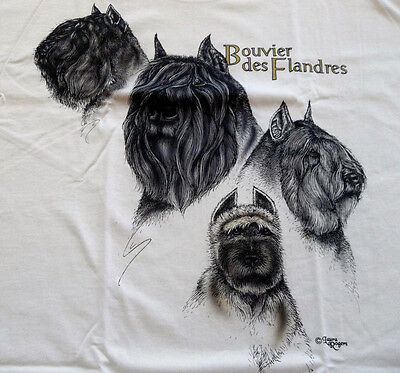 "Bouvier des Flandres T-shirt  "" Natural ""  2XL ( 50 - 52 )"