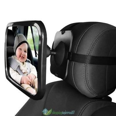 Adjustable Wide View Rear/Baby/Child Back Seat Car Safety Mirror Headrest Mount