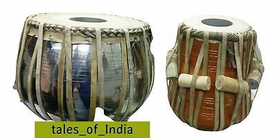 Brand New Tabla ~ Drum Set ~ Copper Bayan ~ Neem Dayan with Hammer Cover Bag