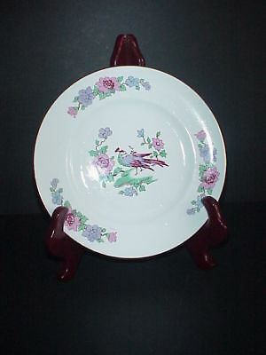 Staffordshire Cathay Fine Bone China England Salad Plate Peacock