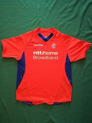 Glasgow rangers 3rd away shirt top in orange size M