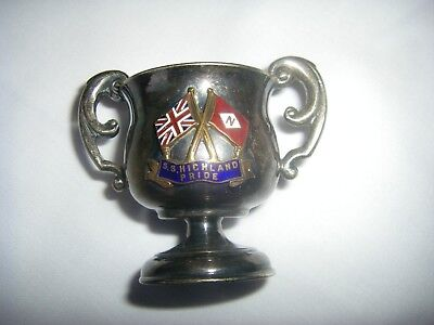 RARE NAUTICAL Antique 2 Handle Cup SS HIGHLAND PRIDE Steamship Nelson Line