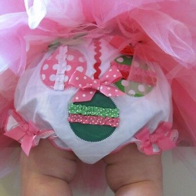 Mud Pie Infant Girl's Christmas Ornament Size 0-6M Bloomers
