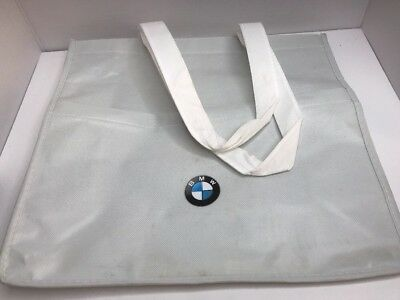 BMW Reusable Multipocket Bag - Cloth Bag In The White Colorway With BMW Logo