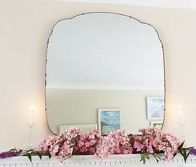 Art Deco Mirror, Frameless Feature Wall Shaped Overmantle Antique Mirror M305