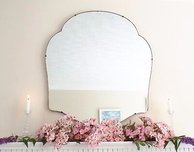 Art Deco Mirror, Frameless Feature Wall Cloud Overmantle Antique Mirror M303