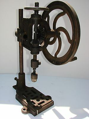 Cast Iron Hand Drill Vintage Collectable Item