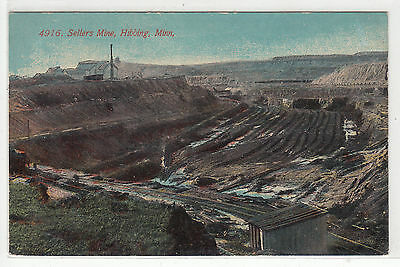 Lithograph - Mining - Sellers Mine at Hibbing, Minnesota - early 1900s