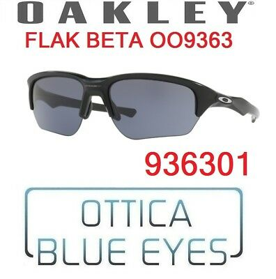 b30b750c7f Occhiali da Sole OAKLEY SUNGLASSES OO9363 936301 FLAK BETA MATTE BLACK GREY