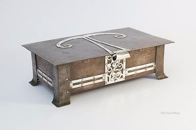 Jesson, Birkett & Co Arts and Crafts/Art Nouveau Silver & Copper Jewellery Box