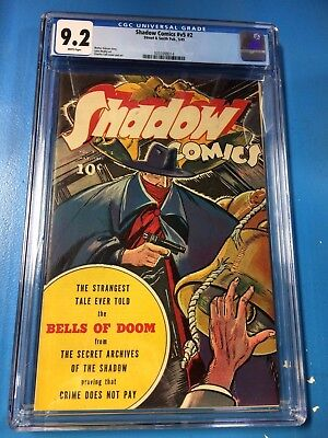 Shadow Comics vol 5 #2 1945 CGC 9.2 White Pages Pristine Highest Graded!!