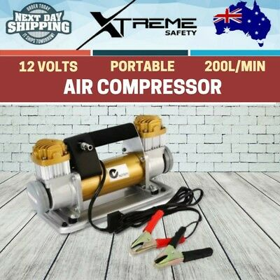 12V Air Compressor 4X4 4WD Car Tyre Deflator Inflator 200L/MIN Portable 200 PSI