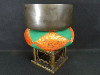 Japanese Alloy Bell,Beautiful Carve Rin Stand,Buddhist Collectible,Large rim8.3""