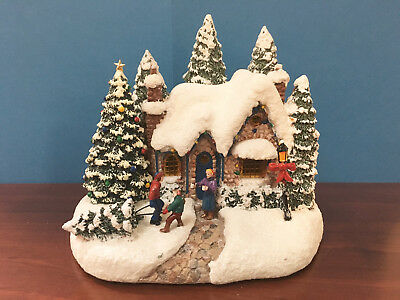 Kinkade 2015 Cottage Country Christmas Homecoming by Teleflora Lighted New