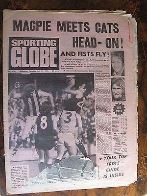 Sporting Globe    JULY 24 1976 DAMAGED