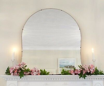 Art Deco Mirror, Frameless Feature Wall Shaped Overmantle Antique Mirror M289