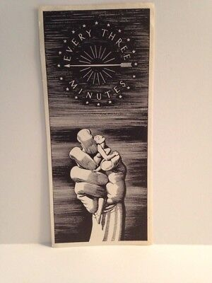 Rockwell Kent RARE Bookmark With Ad For American Cancer Society On Reverse