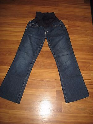 """GAP Maternity Jeans Size 28 / 6L  tailored to 28"""" Long Inseam full panel Stretch"""