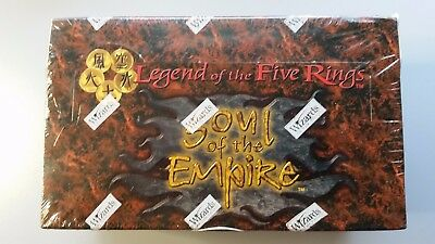 Legend of the Five Rings Soul of the Empire  Box + 12 Packs + Decks SEALED
