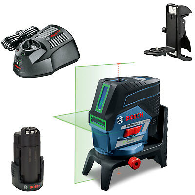 Bosch GCL 2-50 CG 12v Cordless Green Combi Laser Level & RM2 Mount 1 x 2ah Li-io