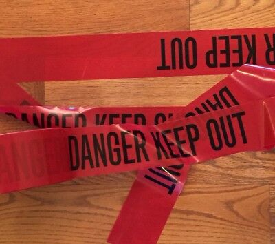 "Danger Keep Out Tape - 50 Feet 3"" Wide Crime Scene Do Not Cross Police Line"