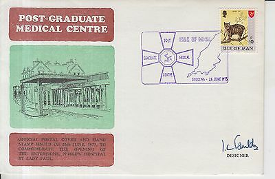 1975 Isle of Man Post Graduate Medical Centre Autographed First Day Cover.
