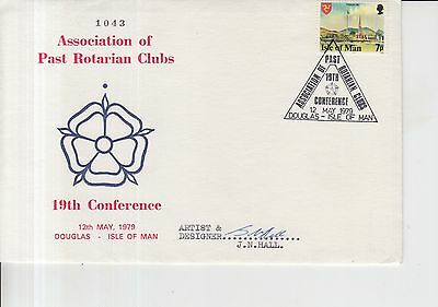 1979 Isle of Man Past Rotarian Clubs Autographed First Day Cover.