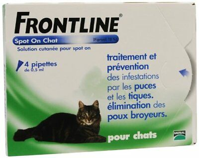 Merial - Frontline chat spot on 4 pipettes