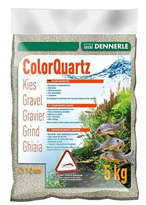 Dennerle Gravier Quartz Déco pour Aquariophilie Light Grey 1 à 2 mm 5 kg