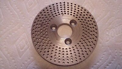 ELLIS DIVIDING HEAD PLATE #3 having circles of holes with 49, 47, 43, 41, 39, 37