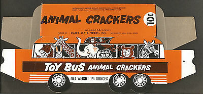 Packaging-Box-TOY BUS animal crackers,Dairy State Foods,Milwaukee,WI. melaneybuy