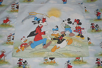 Disney Bettwäsche bedding Micky Minnie Maus Donald Goofy vintage fabric 70s 80s