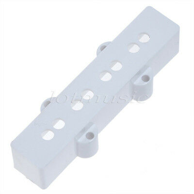 2 Set White Vintage 4 String Bass Neck Bridge Pickup Cover Case for Jazz bass