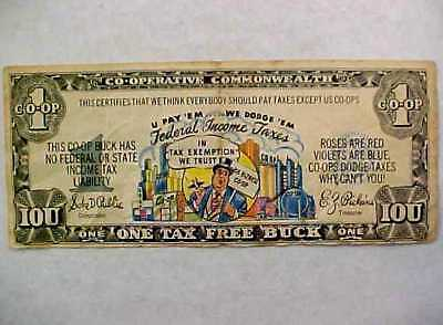 Co-Operative Commonwealth Advertising Note Anti Tax Bogus Currency